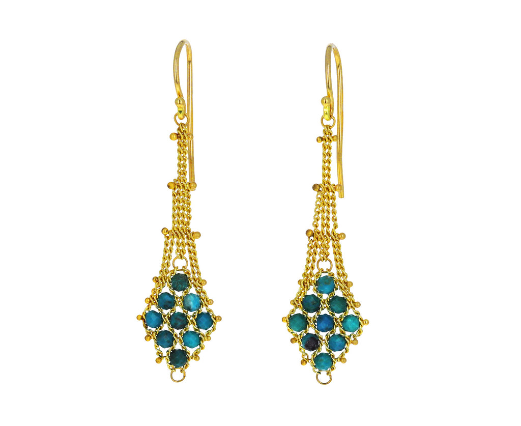 Chrysocolla Textile Drop Earrings