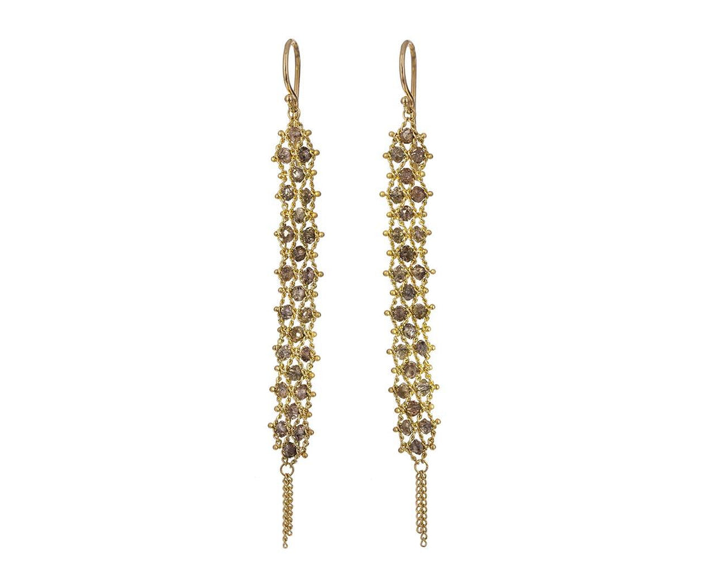 Champagne Diamond Textile Earrings - TWISTonline