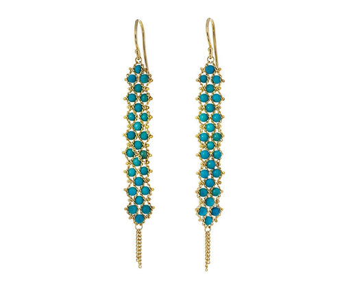 Turquoise Textile Earrings - TWISTonline