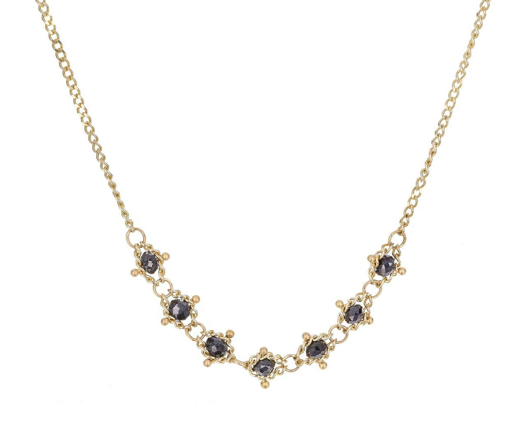 Black Diamond Textile Station Necklace zoom 1_amali_black_diamond_textile_station_necklace