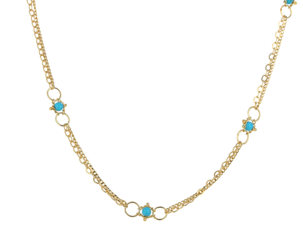 Turquoise Whisper Chain Necklace