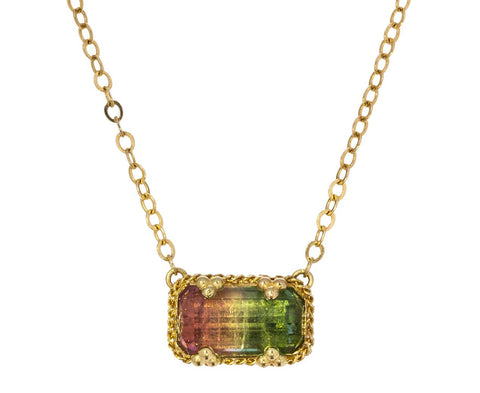 Watermelon Tourmaline Pendant Necklace - TWISTonline