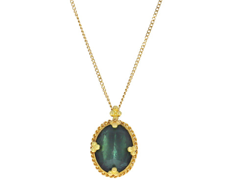 Green Tourmaline Pendant Necklace