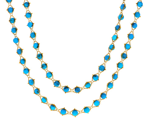 Turquoise Woven Necklace