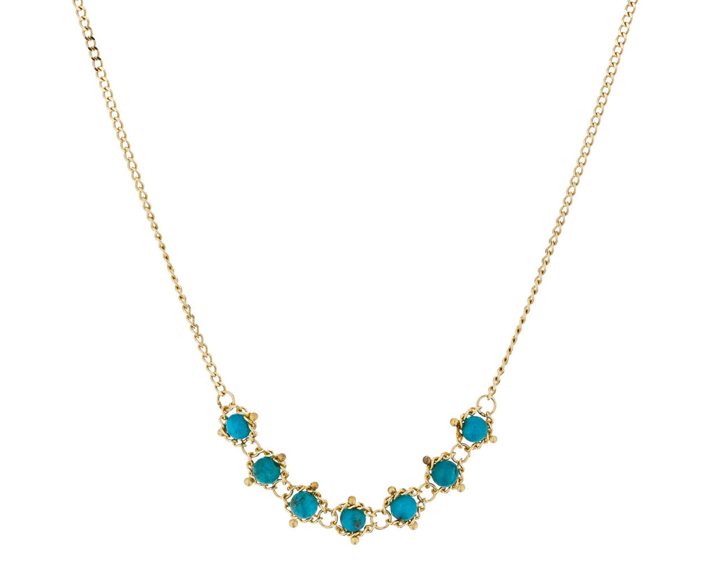 Turquoise Textile Station Necklace - TWISTonline