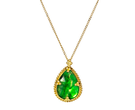 Emerald Slice Pendant Necklace