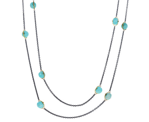 Amazonite Textile Station Necklace