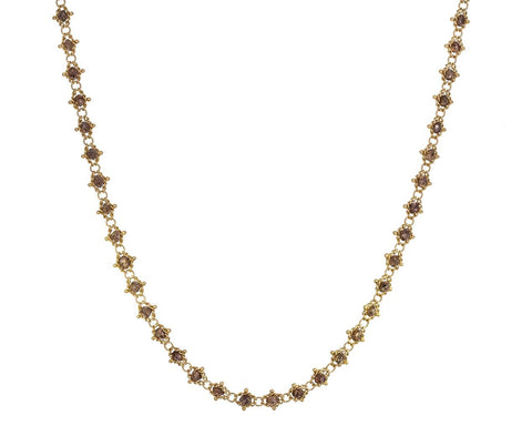 Champagne Diamond Textile Necklace zoom 1_amali_gold_brown_diamond_textile_necklace