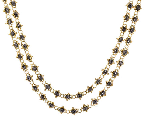Black Diamond Station Necklace zoom 1_amali_gold_black_diamond_textile_necklace