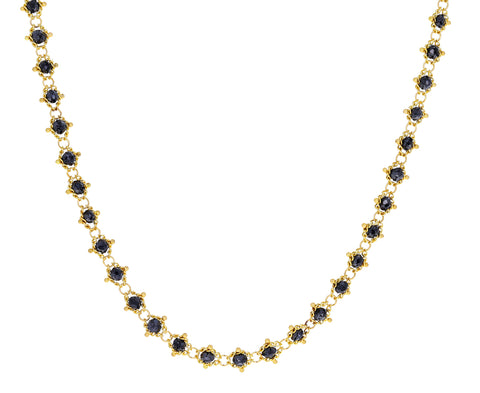 Black Diamond Textile Necklace