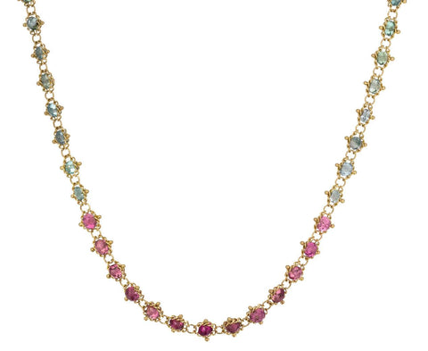 Mixed Tourmaline Textile Necklace zoom 1_amali_gold_tourmaline_textile_necklace