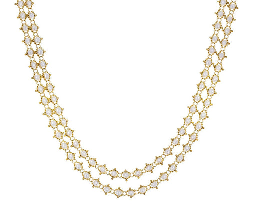 Long Pearl Textile Necklace - TWISTonline