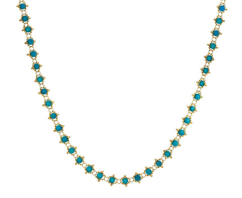 Turquoise Textile Necklace - TWISTonline