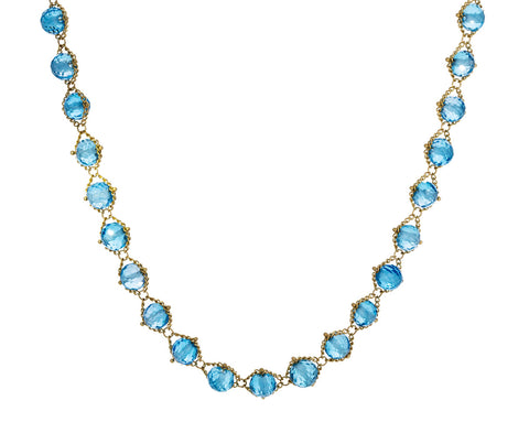 London Blue Topaz Textile Necklace