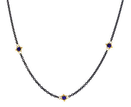 Lapis Textile Station Necklace