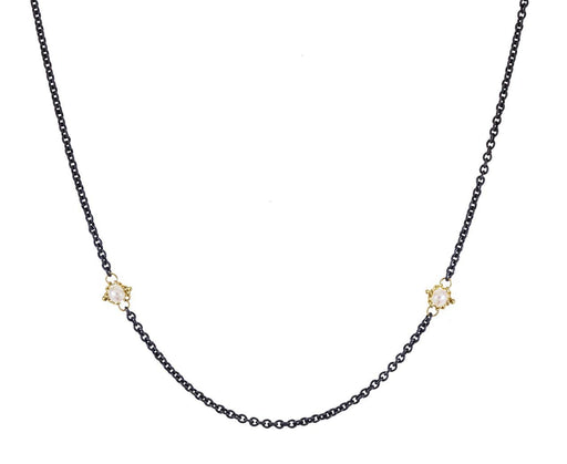 Pearl Textile Station Necklace - TWISTonline
