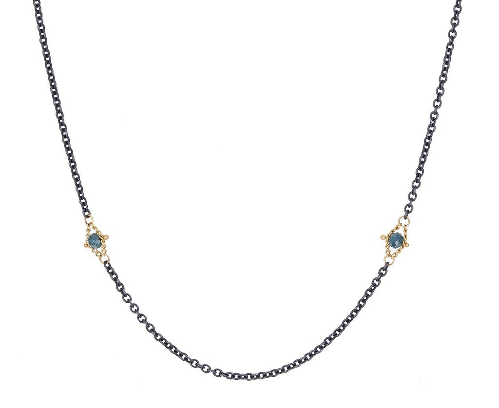 Blue Diamond Textile Station Necklace zoom 1_amali_blue_diamond_textile_station_necklace