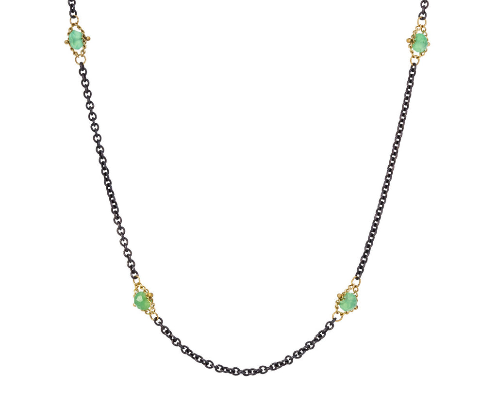 Chrysoprase Textile Station Necklace