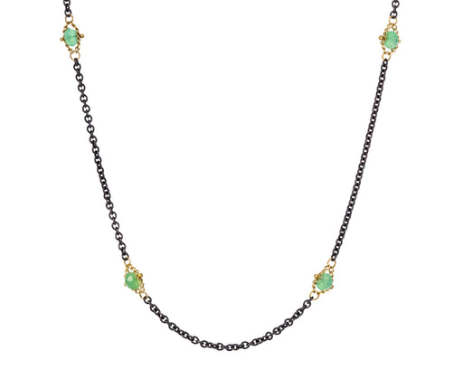Chrysoprase Textile Station Necklace - TWISTonline