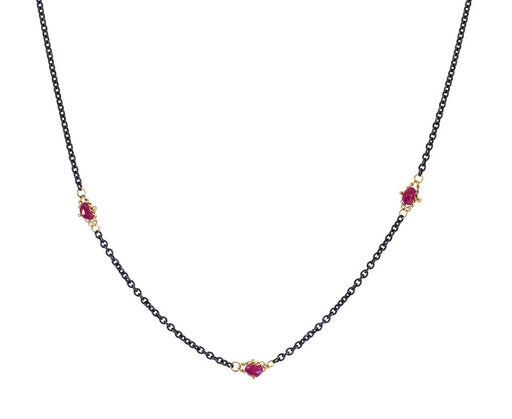 Ruby Textile Station Necklace - TWISTonline