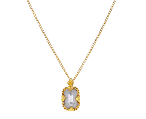 Icy Gray Diamond Pendant Necklace