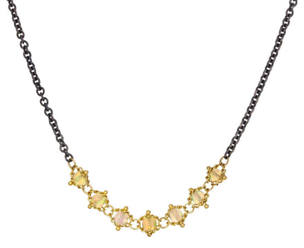 Opal Center Station Textile Necklace - TWISTonline