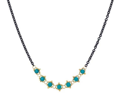 Turquoise Textile Station Necklace zoom 1_amali_gold_turquoise_station_necklace