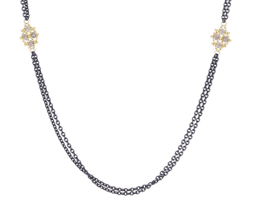 Gray Diamond Woven Station Necklace - TWISTonline