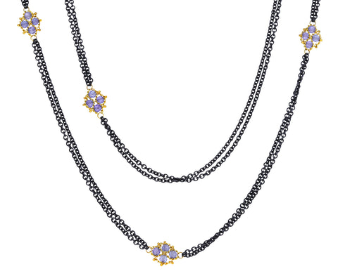 Tanzanite Woven Necklace
