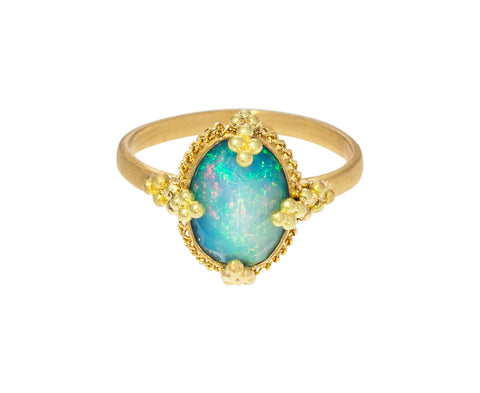 Vertical Opal Ring