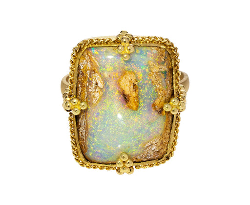 Opalized Wood Ring