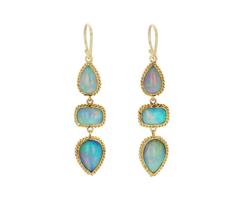 Ethiopian Opal Dangle Earrings