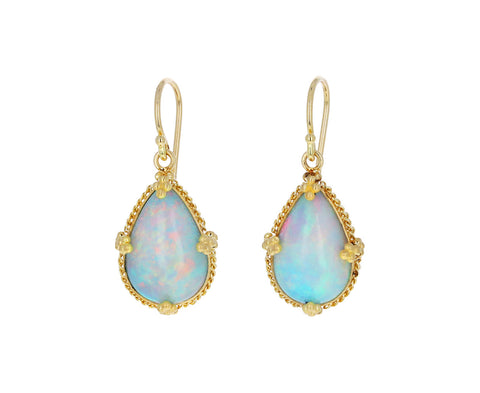 Ethiopian Opal Teardrop Earrings