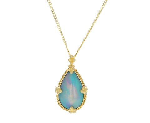 Teardrop Ethiopian Opal Necklaces