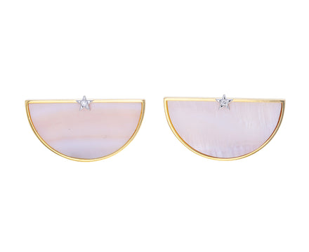 Pink Mother of Pearl Half an Hour Earrings