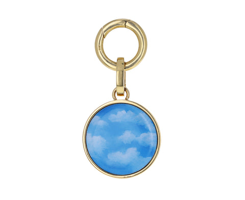 Art Dreamy Painted Mother of Pearl Charm
