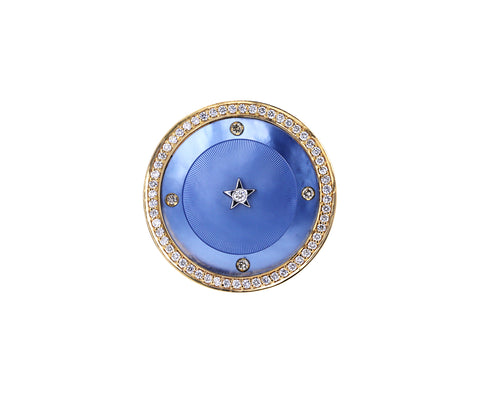 Ora Chevalier Blue Mother of Pearl Ring