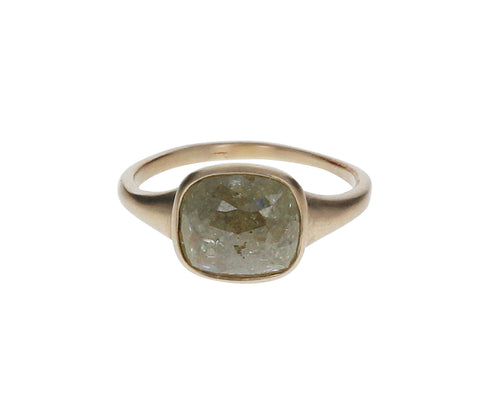 Fancy Green Diamond Gaelle Ring