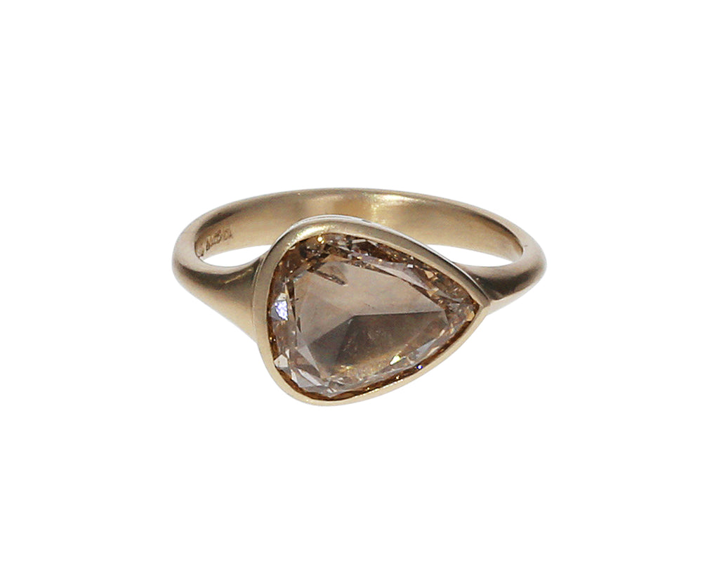 Pear Shaped Champagne Diamond Gaelle Ring
