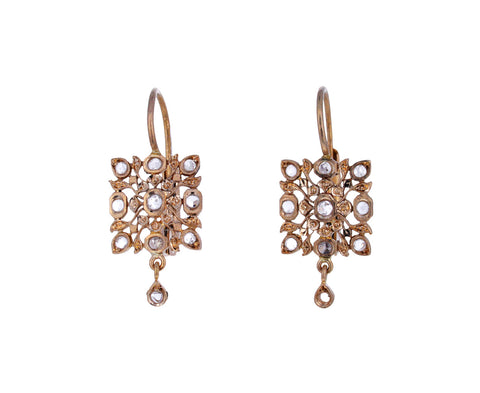 Diamond Dangle Micro Avesh Earrings