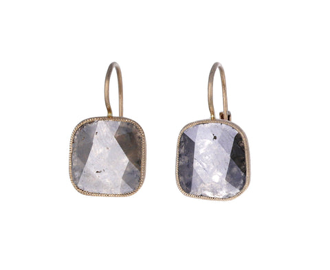 Fancy Diamond Mirror Milligranna Earrings