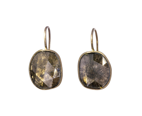Fancy Gray Diamond Mirror Earrings - TWISTonline