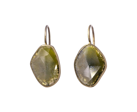 Fancy Yellow Diamond Slice Earrings