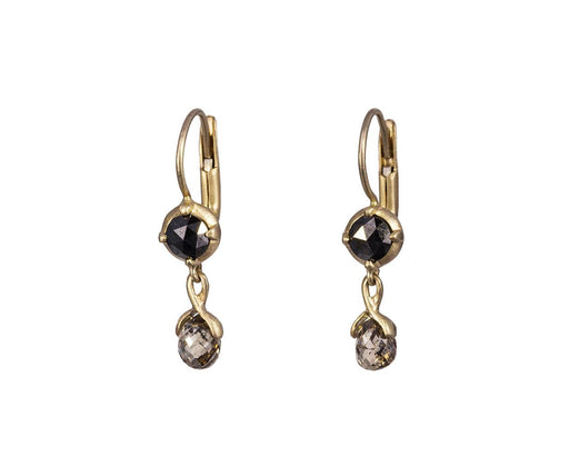 Black and Brown Diamond Reve Aleph Earrings - TWISTonline