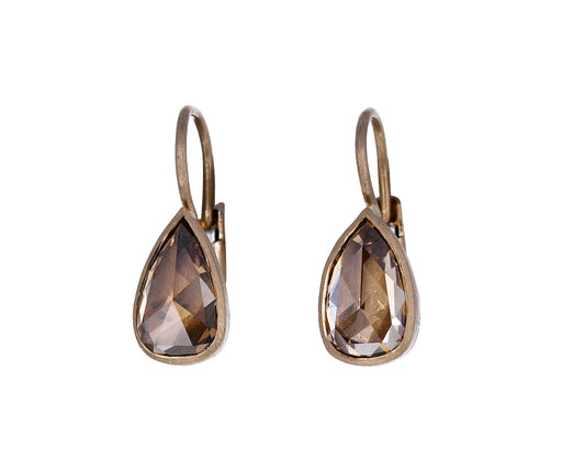 Champagne Diamond Gwyneth Drop Earrings
