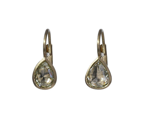 Pale Yellow Diamond Gwyneth Earrings