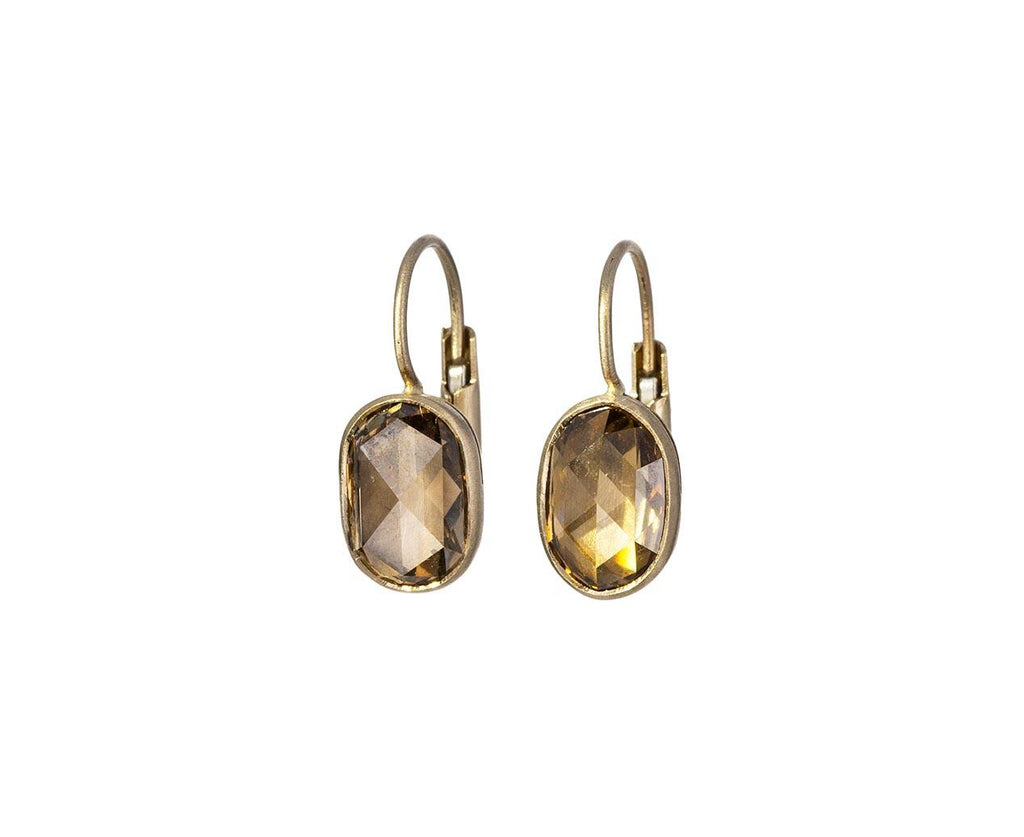 Oval Champagne Diamond Gwyneth Earrings - TWISTonline