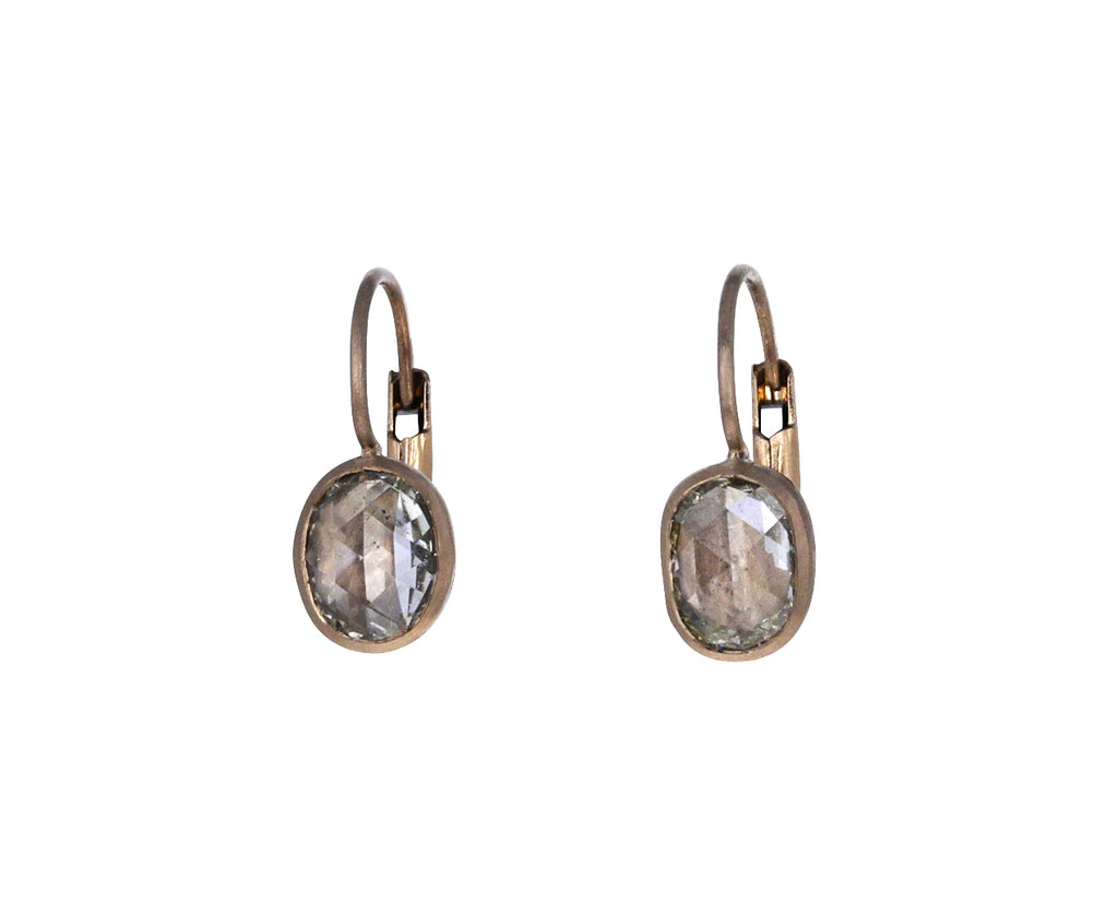 Oval Pale Champagne Diamond Gwyneth Earrings