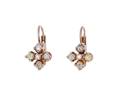 Mini Diamond Quadrifoglio Earrings