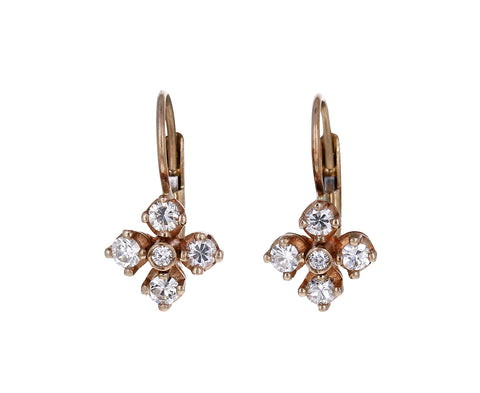 Diamond Mini Quadrofoglio Earrings